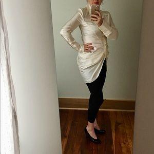 L.A.M.B. Cream 100% Silk Blouse Top Size 6